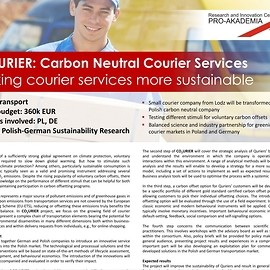 CO2URIER: Carbon Neutral Courier Services - Making courier services more sustainable