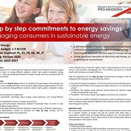 Step by step commitments to energy savings - Engaging consumers in sustainable energy